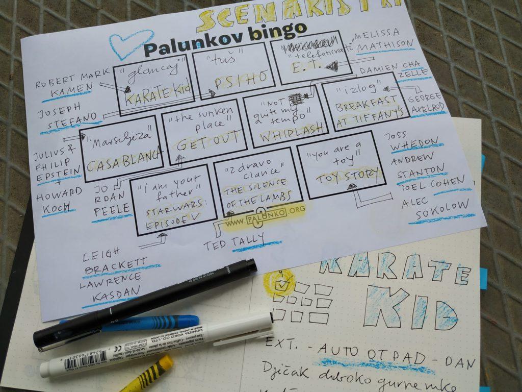 Bingo desetka - Scenaristička radionica Palunko - Prva vježba