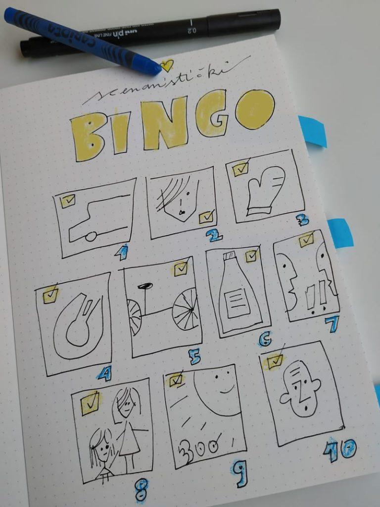 Scenaristicki bingo Foto i ilustracija Irena Krčelić za scenarističku radionicu Palunko
